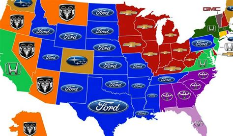 most popular car brand by state map most popular car by state map hot girls wallpaper