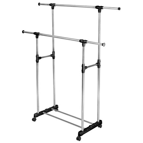 Portable Clothing Rack by Heavy Duty Adjustable Portable Clothes Rack Hanger