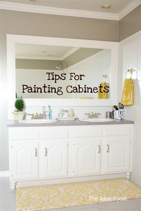 how to paint bathroom cabinets ideas diy home projects the idea room