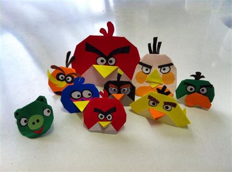 Origami Angry Birds - angry birds origami