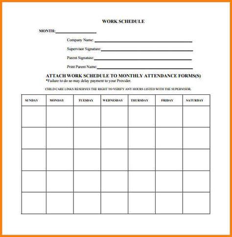employee schedule template work schedule template