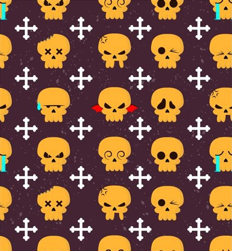 pattern repeat art horror repeating pattern with skulls and bones