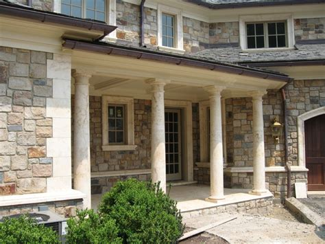 porch columns mediterranean patio newark by