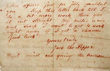 lettere di lo squartatore whitechapel e la leggenda di lo squartatore