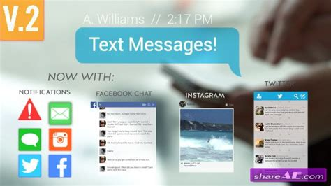 Videohive Text Messages After Effects Project 187 Free After Effects Templates After Effects Text Message After Effects Template