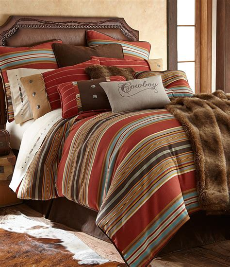 Faux Suede Comforter by Hiend Accents Calhoun Serape Striped Faux Suede Comforter