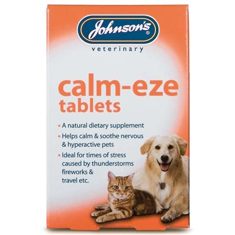 composure for dogs johnsons calm eze calming tablets for dogs and cats 36 tablets