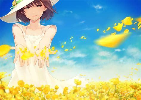 anime girl summer wallpaper wallpaper anime girl summer light dress wallpapermaiden