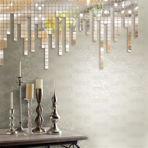 stick on mirror tiles bathroom creative mirror decorating ideas mirror walls creative