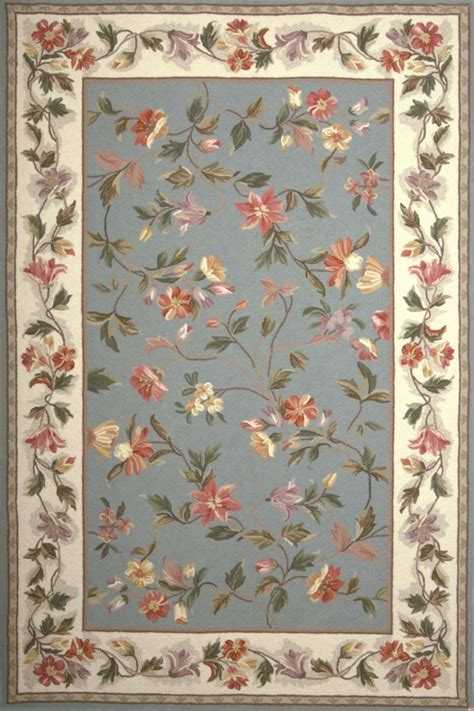 colonial 1728 slate blue ivory floral area rug by kas