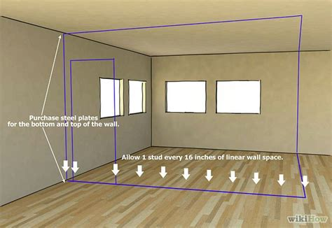 install metal studs metal studs framing basement walls
