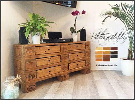 paletten kommode hifi palettensideboard mit schubladen in braun kommode