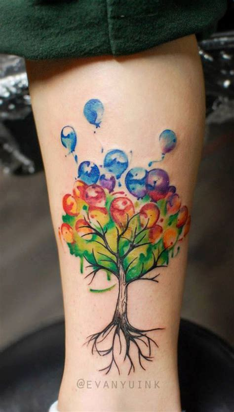 watercolor tree tattoo designs 50 best balloon tattoos design and ideas