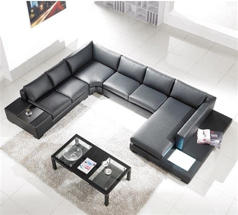 3 sided sectional sofa tosh lombardy black leather sectional sofa modern