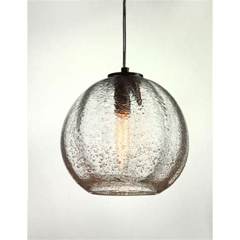 bubble glass mini pendant lights vintage satin nickel round ribbed clear bubble glass