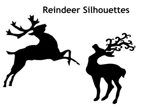 printable reindeer silhouette family advent calendar day 12 make a shadow puppet