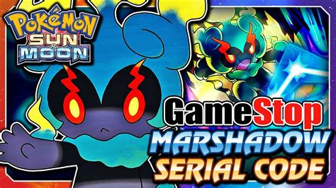 Marshadow Giveaway - pok 233 mon sun moon free gamestop marshadow serial code mystery gift event