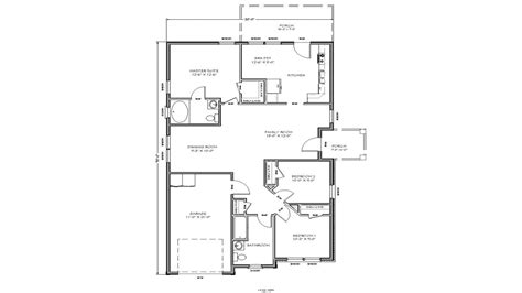 Floor Plans For Small 2 Bedroom Houses Small House Floor Plan Small Two Bedroom House Plans