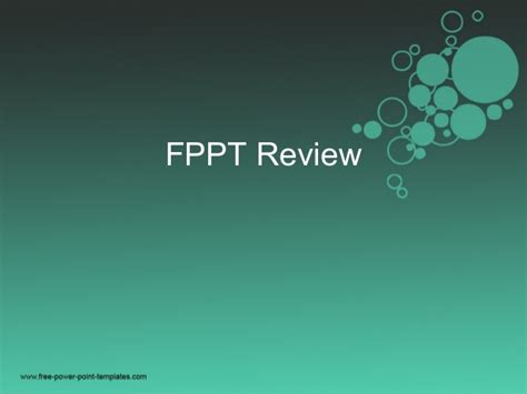 Fppt Review Fppt Free