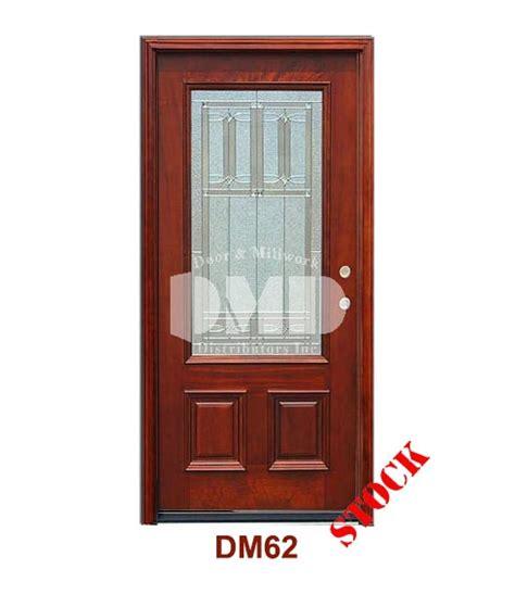dm62 mahogany exterior 3 4 arch lite diablo zinc caming