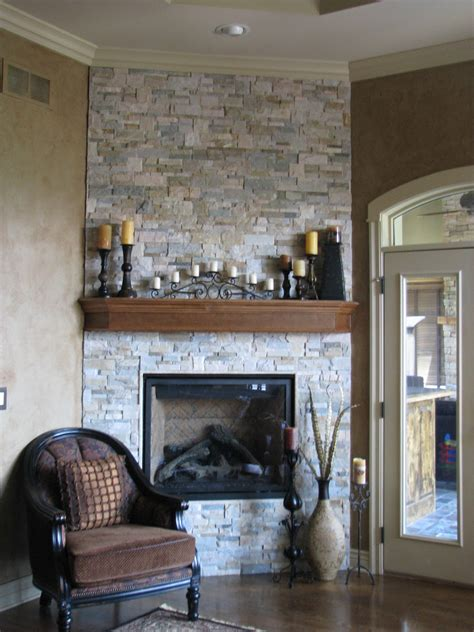 Wall Color With Brick Fireplace by Brick Wall Exposed With Wooden Shelves Built