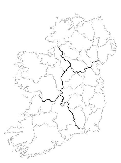 County Map Of Ireland Outline blank map of ireland 32 counties