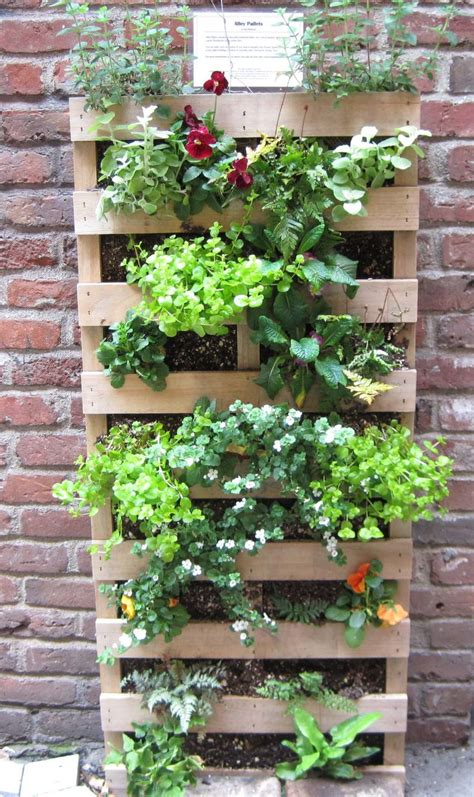vertical gardening with pallets home outdoor decoration