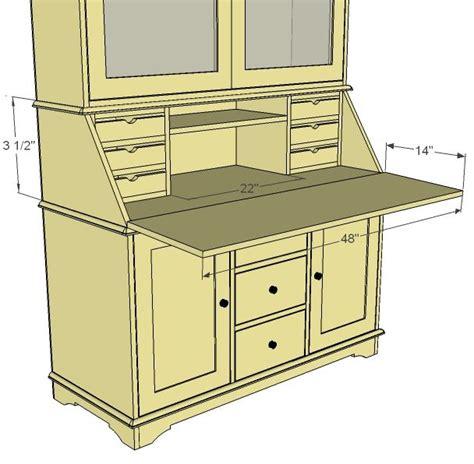 Ana White Build A Grant Secretary Hutch Free And Easy White Desk Plans