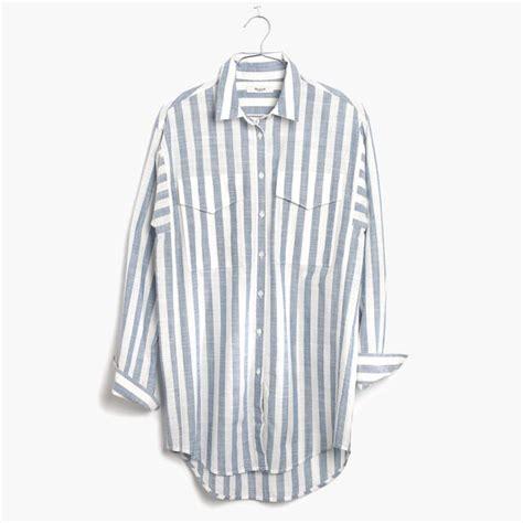 Striped Oversized Shirt oversized striped button shirt endource