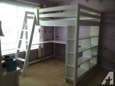 full size loft beds for sale handcrafted full size loft bed with built in bookcase and