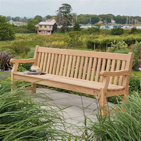 park benches uk alexander rose roble 8ft park bench