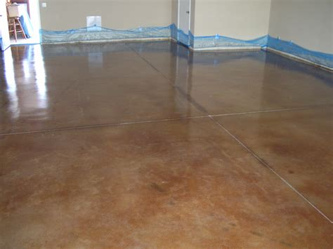brown color painting concrete floor with epoxy inside house ideas