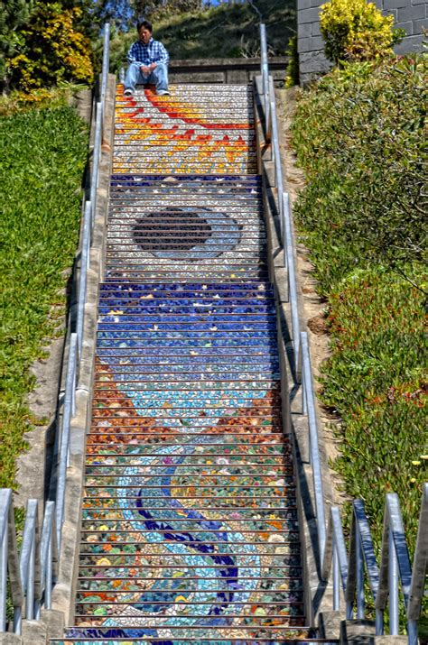 Mosaic Stairs by 301 Moved Permanently