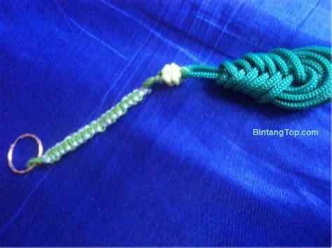 cara membuat gantungan kunci anyaman gantungan kunci dari tali kur diy tear drop key chain