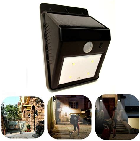 Solar Powered Deck Lights Outdoor 6 Led Solar Light Outdoor Garden Light Solar Energy Powered Motion Sensor For Patio Garden