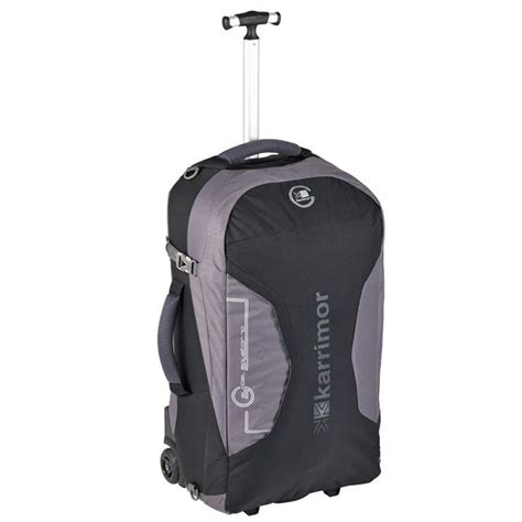 rugged travel luggage karrimor global equator 70 wheeled suitcase travel luggage rugged ebay