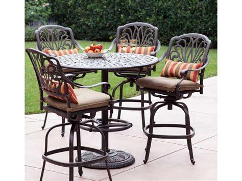 darlee cast aluminum outdoor patio round square bar stool darlee outdoor living series 60 cast aluminum 42 round bar
