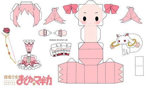 Kawaii Papercraft - kaname madoka chibi papercraft by tsunyandere on