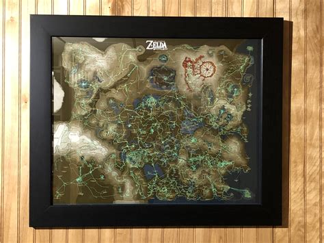 legend of zelda wall map zelda fan uses breath of the wild s hero s path to map
