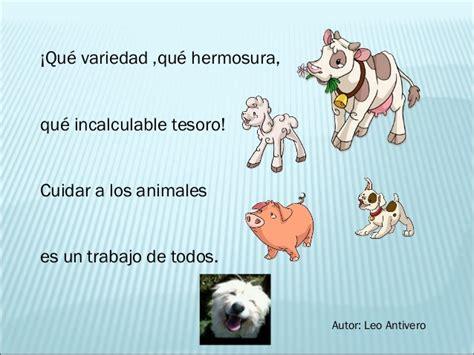 poema de los animales poesia los animales