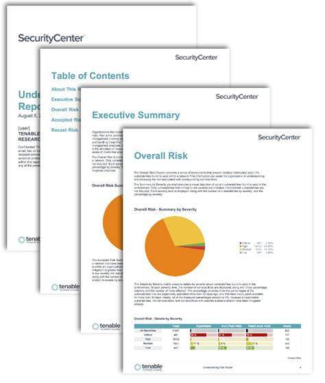 understanding risk report sc report template tenable