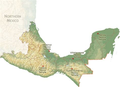 map of southern us and mexico southern mexico region images
