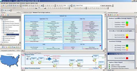 unicom system architect user interface showing