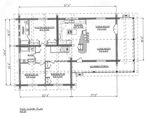 Log Home Plans Ranchers Dds1942w Home Design Blueprint