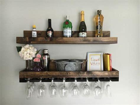 Barware Shelves Best 25 Hanging Wine Rack Ideas On Wall