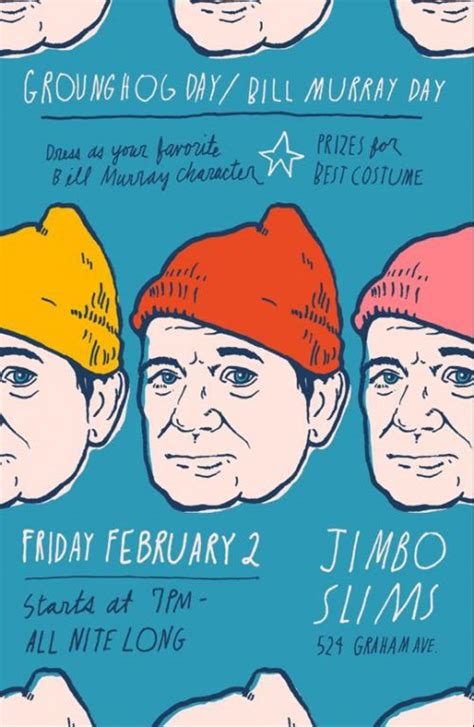 groundhog day with bill murray bill murray day at jimbo slim s tonight 2 2 groundhog