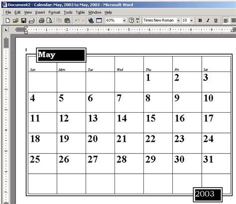 word 2003 calendar template microsoft calendar wizard for word calendar template 2016