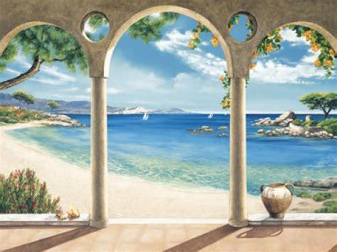 mediterrane wandbilder dominguez mediterranean bay meer fertig bild 60x80