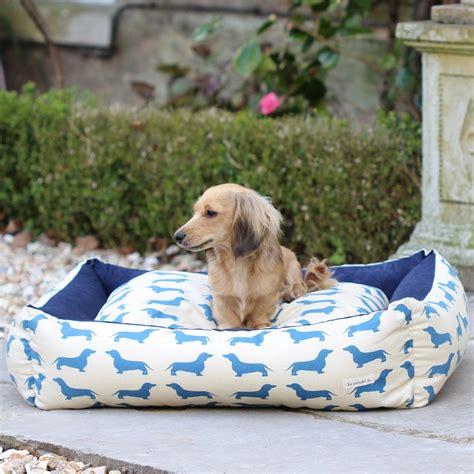dachshund bed dog bed in dachshund print designer dog beds cuckooland