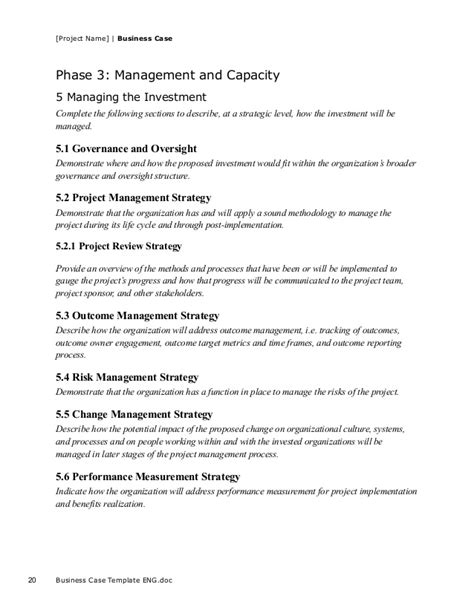 pmi business template business template for project